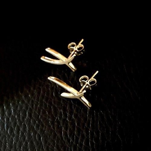 Handmade Gold Earstuds