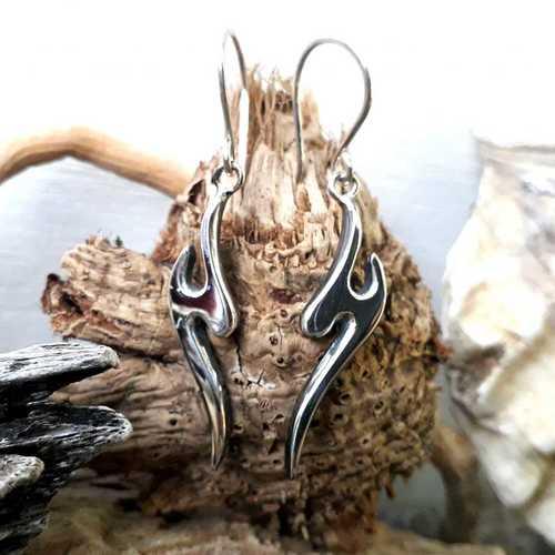 Beautiful handmade silver drop earrings
