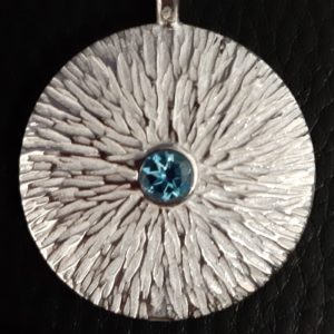 silver textured pendant