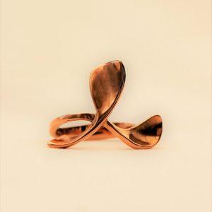 18ct Rose Gold Triple Petal Dress Ring by Harriet Ferris