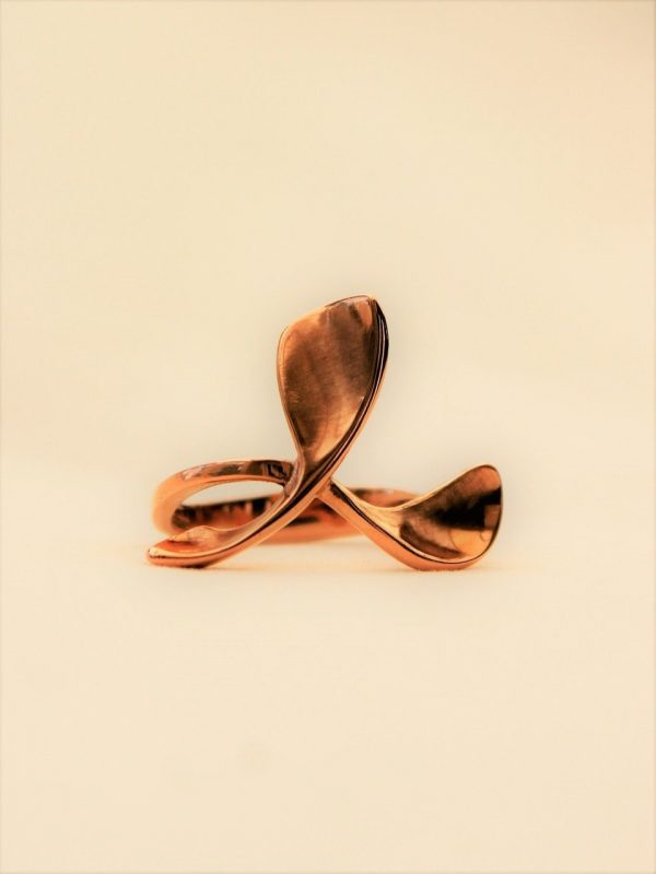 18ct Rose Gold Triple Petal Dress Ring by Harriet Ferris