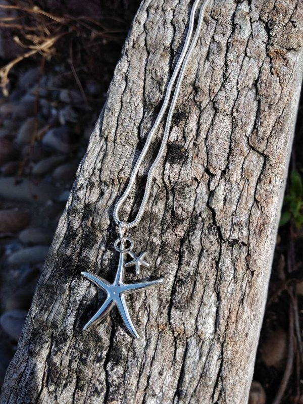 Starfish Pendant Necklace - with Baby Starfish by Rob Morris