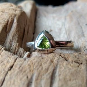 Silver Stack Ring, Triangular Silver Mount by Rob Morris