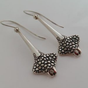 Handmade silver drop earrings