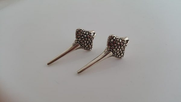 Small Manta Studs by Rob Morris