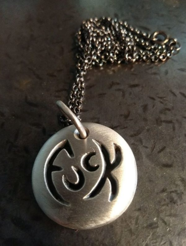 St. Christophuck Medallion Necklace by Rob Morris