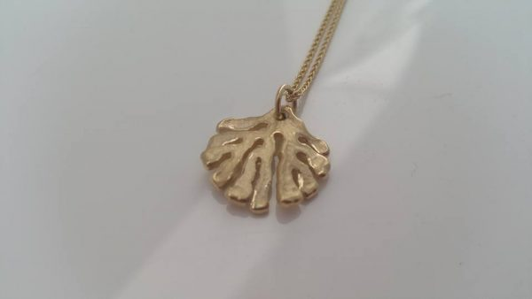 Medium Kelp Pendant Necklace in Gold by Rob Morris