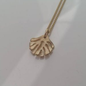 Small Kelp Pendant Necklace in Gold by Rob Morris